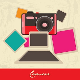 Ilustración cámara polaroid