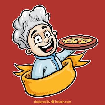 Ilustración chef italiano