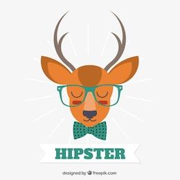 Ilustración ciervo hipster