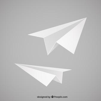 Ilustración de aviones de papel