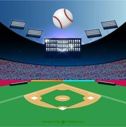 Ilustración de campo de béisbol