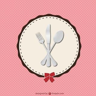 Ilustración de cubiertos de restaurante
