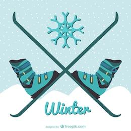 Ilustración de esquí