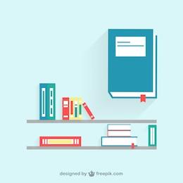 Ilustración de estante con libros
