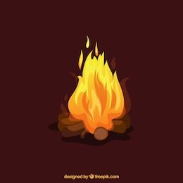 Ilustración de fuego