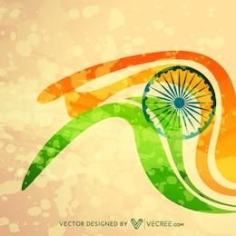 Ilustración de la bandera de la India