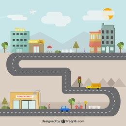 Ilustración de la ciudad