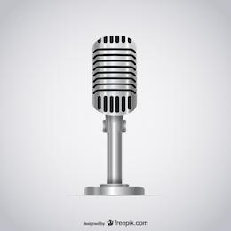 Ilustración de micrófono 3D