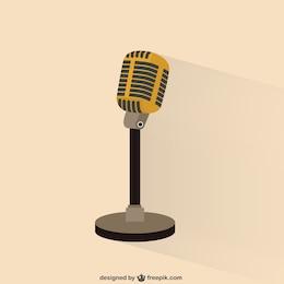 Ilustración de micrófono retro