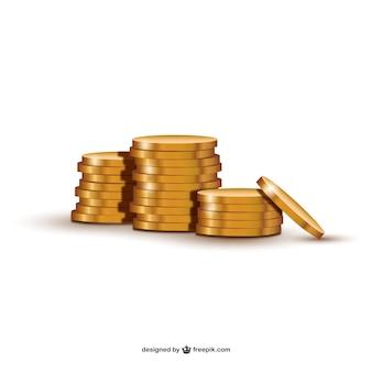 Ilustración de monedas de oro