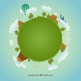 Ilustración de planeta para día de la tierra