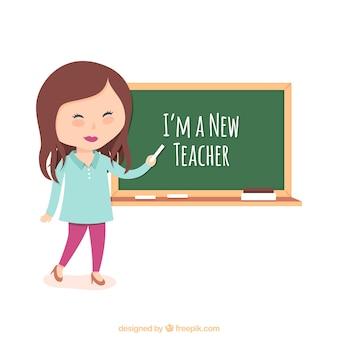 Ilustración de profesora