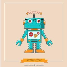 Ilustración de robot hipster