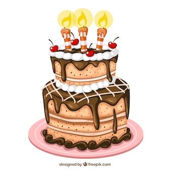 Ilustración de tarta de cumpleaños