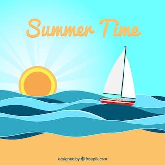 Ilustración de tiempo de verano