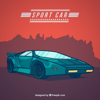 Ilustración de un coche deportivo