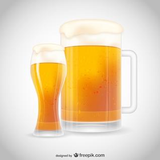 Ilustración de vaso de cerveza