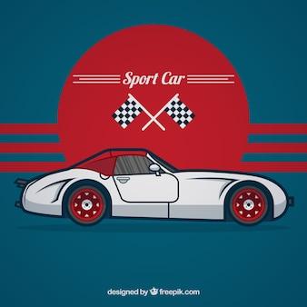 Ilustración del coche deportivo
