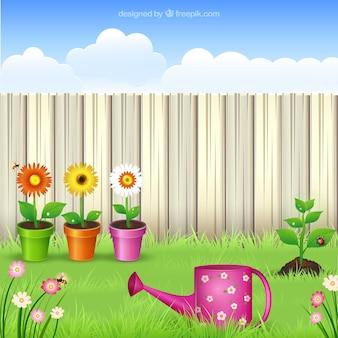 Ilustración del jardín