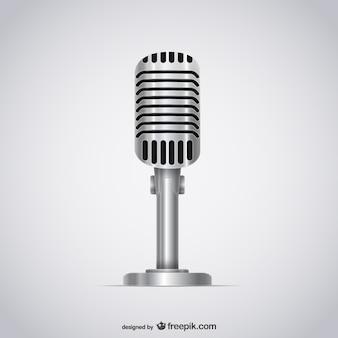 Ilustración micrófono 3D