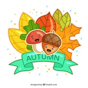Ilustración mona de otoño