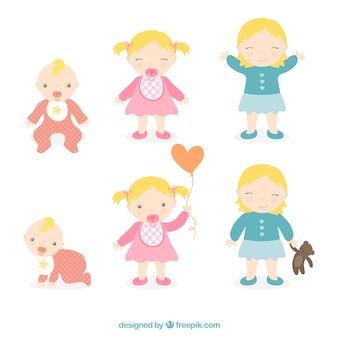 Ilustración muchacha niñez