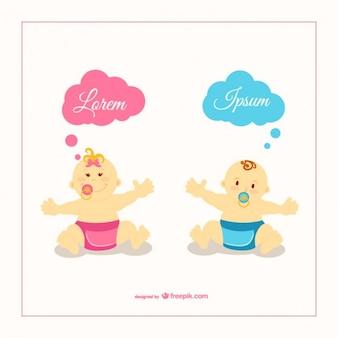 Ilustración vectorial bebés
