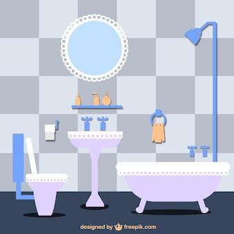 Ilustración vectorial de cuarto de baño