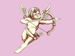 Ilustración vectorial de Cupido