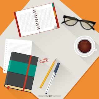 Ilustración vectorial de escritorio