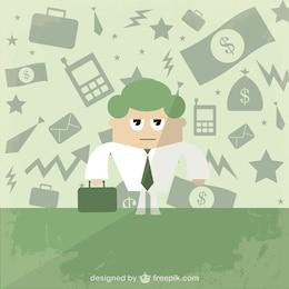 Ilustración vectorial de hombre de negocios gratis