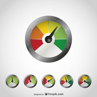 Ilustración vectorial de medición de la calidad