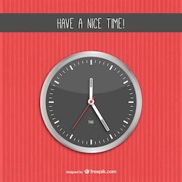 Ilustración vectorial de reloj de pared