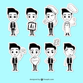 Ilustraciones de hombres jóvenes