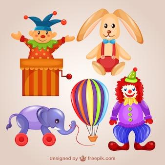 Ilustraciones de juguetes simpáticos