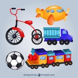 Ilustraciones de juguetes vectoriales