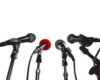 ilustraciones de stock conferencia de prensa