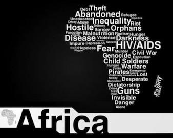 ilustraciones de stock mapa de vector de África