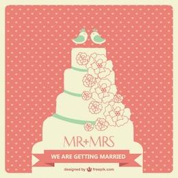 Imagen de pastel de boda en formato vectorial