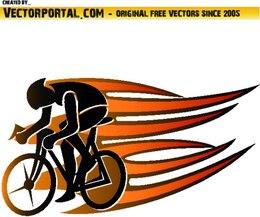 Imagen del deporte ciclista dinámico