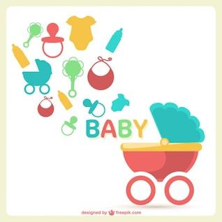 Imagen vectorial bebé