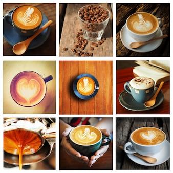 Imagenes de tazas de café puestas en un cuadro