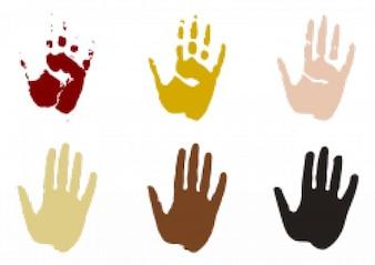 impresiones de las manos