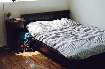 En el dormitorio