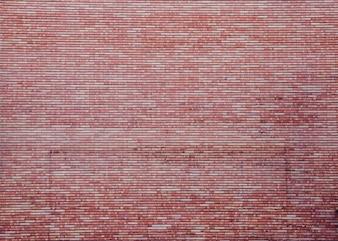 Increíble y enorme pared de ladrillo rojo