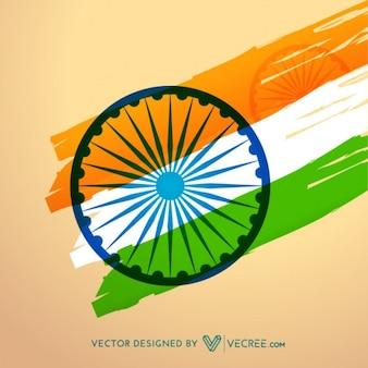 Fondo de la bandera de la India
