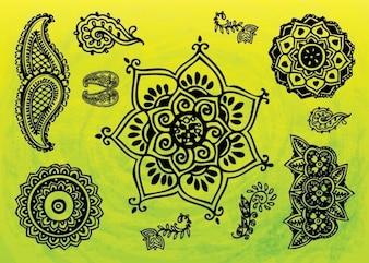 indian tatuaje gráficos