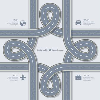 Infografía carretera abstracta