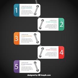 Infografía con banners numerados