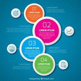Infografía con círculos